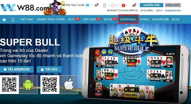 Super Bull là một trong những game bài hấp dẫn tại W88