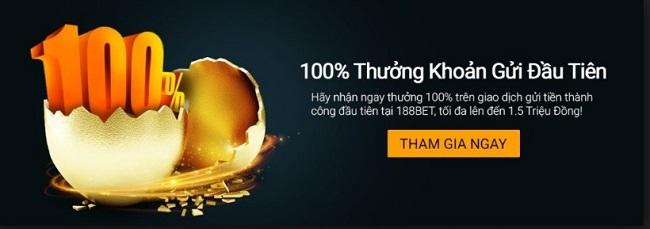 Chuong trinh khuyen mai 188Bet