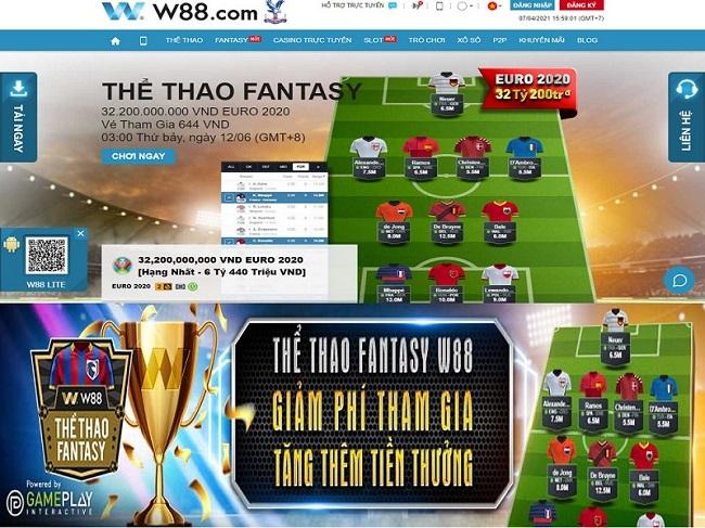 """Cách chơi thể thao Fantasy tại W88 """"trăm trận trăm thắng"""""""