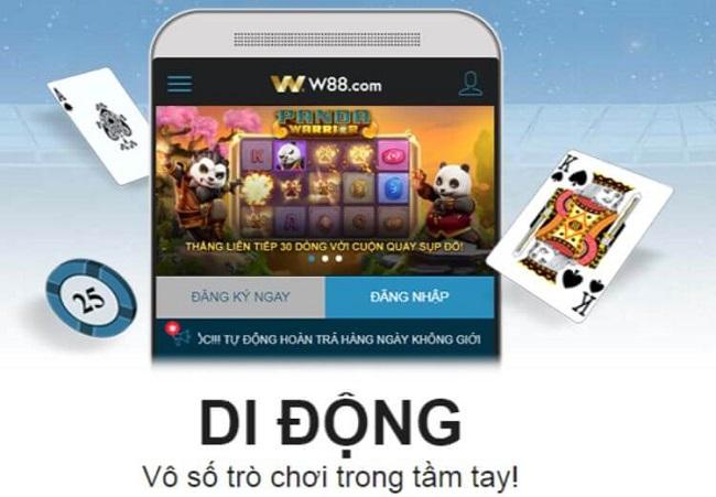 Huong dan cach tai App W88 ve di dong